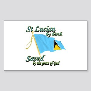 St lucian by birth Sticker (Rectangle)