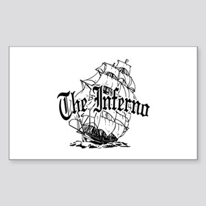 Inferno Pirate Ship Sticker (Rectangle)