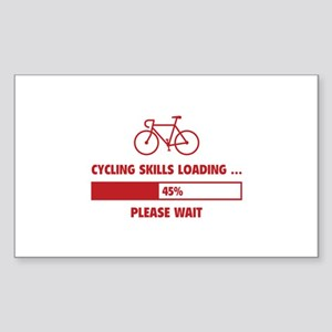 Cycling Skills Loading Sticker (Rectangle)