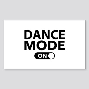 Dance Mode On Sticker (Rectangle)