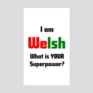 i am welsh Sticker (Rectangle)