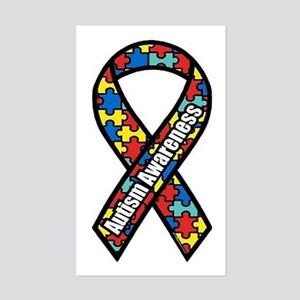 Autism Ribbon Rectangle Sticker