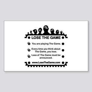 Lost The Game Rectangle Stickers Cafepress