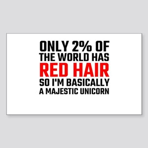Only 2 Percent Of The World Has Red Hair Sticker