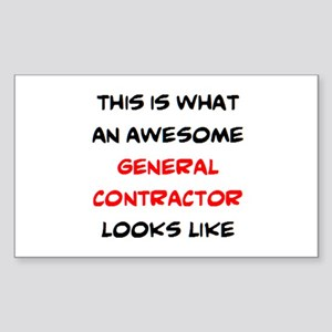 f19ed4491 awesome general contractor Sticker (Rectangle)
