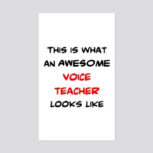 awesome voice teacher Sticker (Rectangle)