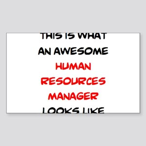 awesome human resources Sticker (Rectangle)