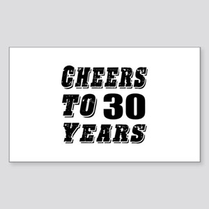 Cheers To 30 Sticker (Rectangle)