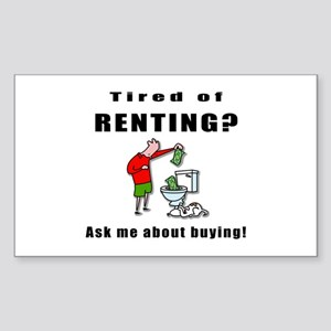 RENTING? Rectangle Sticker