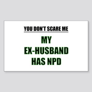 My Ex-Husband Has NPD Rectangle Sticker