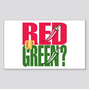 Red or Green? Rectangle Sticker
