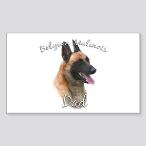Malinois Dad2 Rectangle Sticker