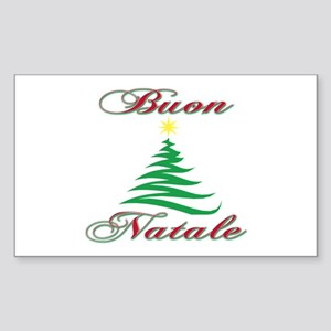 Stickers Natale.Buon Natale Rectangle Stickers Cafepress