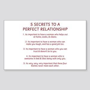 Perfect Relationship Rectangle Sticker