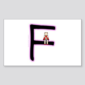 F (Girl) Rectangle Sticker