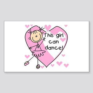 This Girl Can Dance Rectangle Sticker