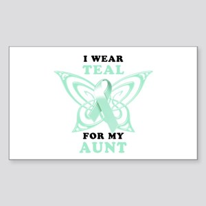 I Wear Teal for my Aunt Sticker (Rectangle)