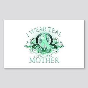 I Wear Teal for my Mother Sticker (Rectangle)