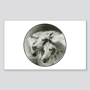 Pharaoh's Horses Sticker (Rectangle)