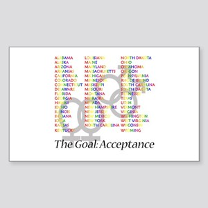 Gay Marriage Acceptance Sticker (Rectangle)