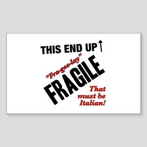 Fragile Must Be Italian - Christmas Story Sticker