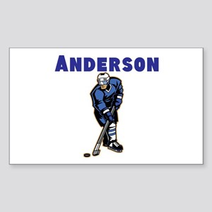 Personalized Hockey Sticker (Rectangle)