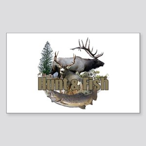 Hunt and Fish Sticker (Rectangle)