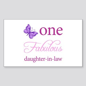 One Fabulous Daughter-In-Law Sticker (Rectangle)