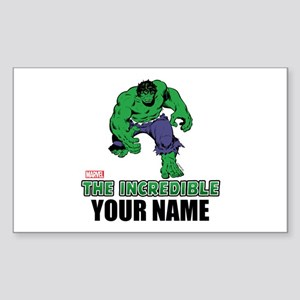 The Incredible Hulk Personaliz Sticker (Rectangle)