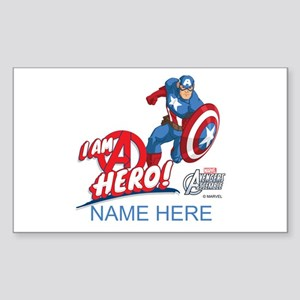 Avengers Assemble Captain Amer Sticker (Rectangle)