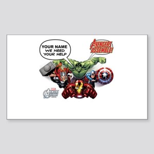 Avengers Assemble Personalized Sticker (Rectangle)