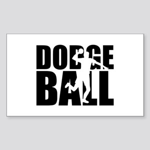 Dodgeball Sticker (Rectangle)