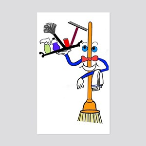 Cleaning Service Rectangle Stickers - CafePress