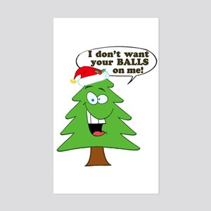 Funny Merry Christmas tree Sticker (Rectangle)