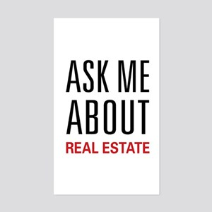 Ask Me Real Estate Rectangle Sticker