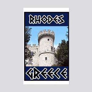 Rhodes Rectangle Sticker