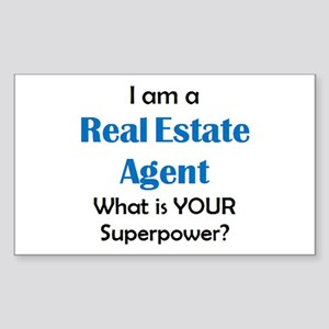 real estate agent Sticker (Rectangle)