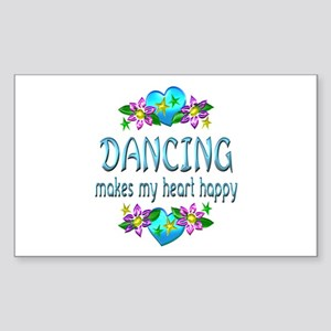 Dancing Heart Happy Sticker (Rectangle)