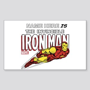 Personalized Invincible Iron M Sticker (Rectangle)