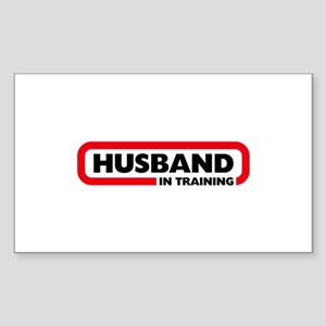 Husband in Training Sticker (Rectangle)