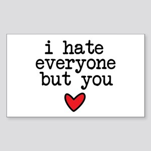 Hate Everyone Sticker