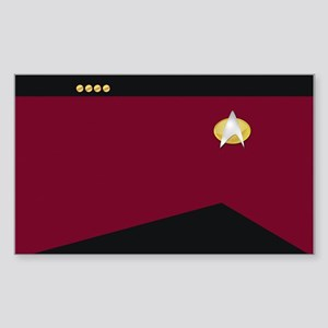 Star Trek: TNG Uniform - Capta Sticker (Rectangle)