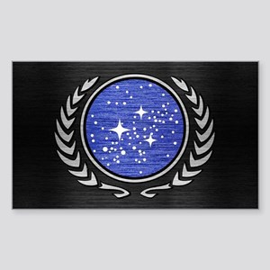STARTREK UFP METAL 1 Sticker (Rectangle)
