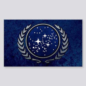 STARTREK UFP STONE Sticker (Rectangle)