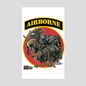 101 Airborne Eagle Rectangle Sticker