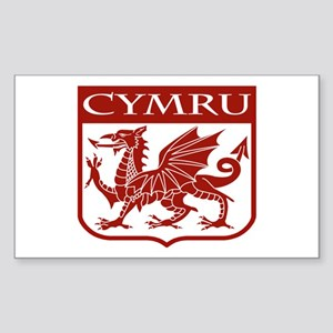 CYMRU Wales Rectangle Sticker