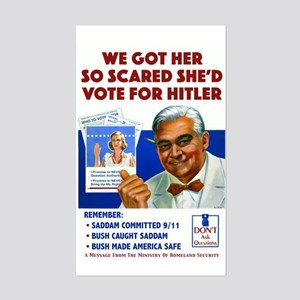 Voting For Hitler Rectangle Sticker