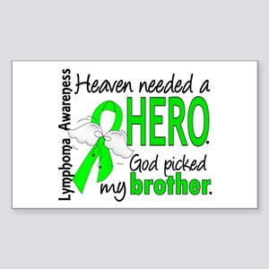 Lymphoma HeavenNeededHero1 Sticker (Rectangle)