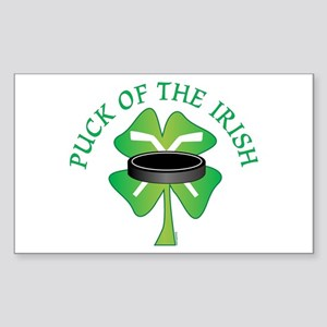 Puck of the Irish Rectangle Sticker