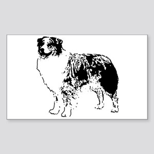 Australian Shepherd Rectangle Sticker
